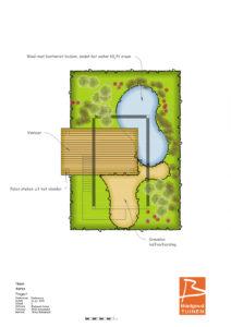 Eco-paalwoning of tiny house met tuinontwerp door Bladgoud-tuinen. Ontwerp paalwoning door Herman Harms.